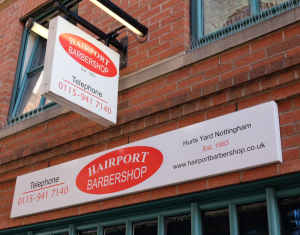 Clockwork Signs Hairport Barbers Corporate Signage